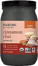 Sponsored Ad - Paromi Tea Organic Cinnamon Chai Caffeine-Free Rooibos Tea, Non-GMO, 15 Pyramid Tea Bags (Pack of 6)