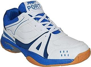 Port Men's Bull Activa White Blue Pu Running Sports Shoes