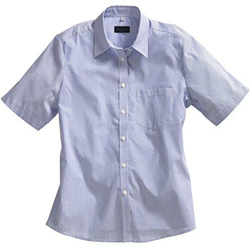 Pionier 1731-48 bluzka damska 1/2 Business Fashion w paski rozmiar 48 granatowa niebieska/biała