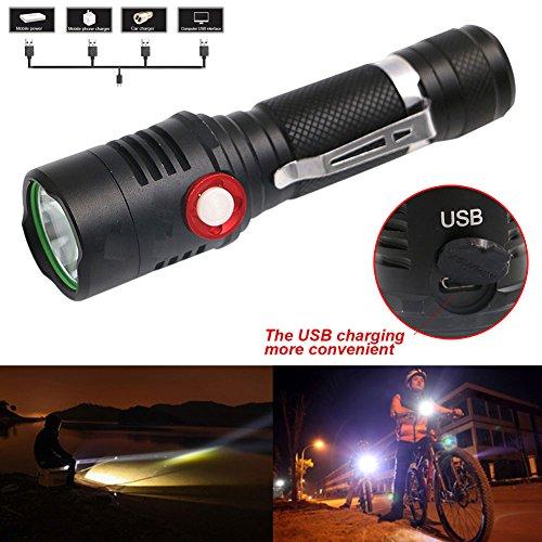 Starall Zoomable LED Lampe de poche L2 puissant luminosité lampe de poche étanche torche Camping Randonnée lampe de poche Lanterne