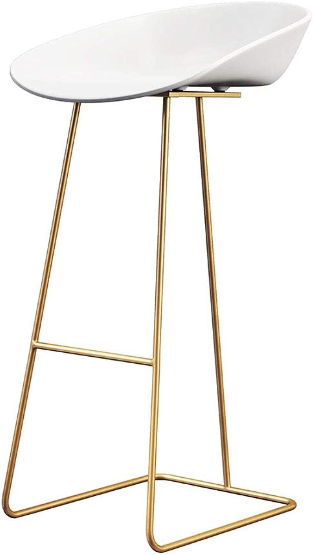 LYXPUZI Barhocker Nordic bar Chair Wrought Iron bar Table Chair Cafe bar Stool Front high Stool Frühstücksschemel (color   Black, Size   65CM)