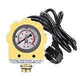 Druckschalter, 220V 10-bar-Wasserpumpendruckregler Elektronischer Schalter für Tauchpumpe, selbstansaugende Pumpe, Strahlpumpe, Tiefbrunnenpumpe (EU-Stecker)