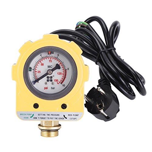 220V 0~10 bars Interrupteur Électronique Unité de Pressostat Réglable pour Pompe à Eau (Prise de l'EU)