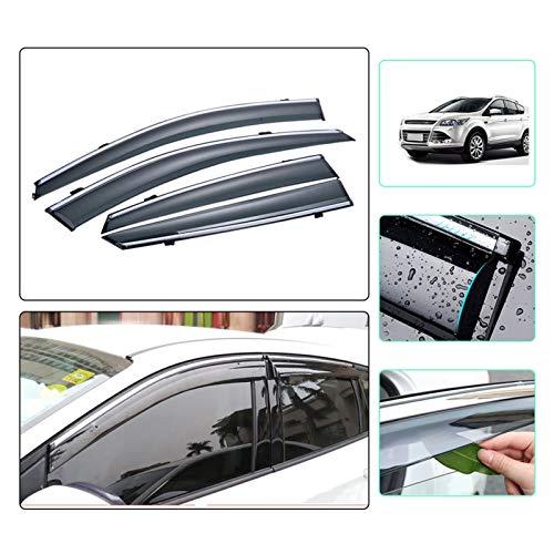 Deflectores de Viento Coche Styling Car Smok Window Sun Rain Visor Deflector Guard para Ford Kuga 2013 2014 2015 2016 2017 2018 2019 Accesorios 4pcs Visera Lateral