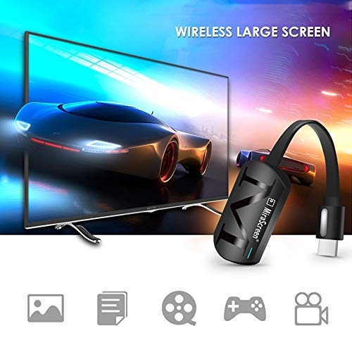 KOBWA Display Wireless Dongle Display Wireless Ricevitore Display WiFi Dongle 1080P Supporto TV HDMI Supporto Adattatore Wireless Supporto Miracast DLNA Airplay per iOS/Android / Windows/Mac
