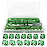 YIXISI 100 piezas Bloque de terminales de tornillo conectores de bloque de terminal de tor...