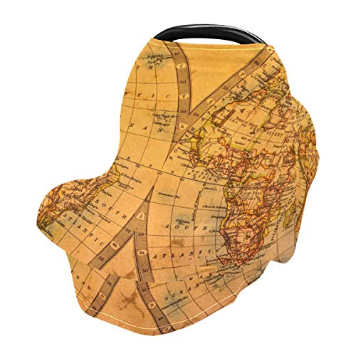 Nursing Cover Breastfeeding Scarf Ancient Atlas Map of World - Baby Car Seat Covers, Stroller Cover, Carseat Canopy (801l)