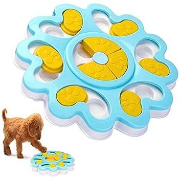 MATÉRIEL DE SÉCURITÉ - Le jouet Dog Puzzle Feeder est fabriqué en ABS de haute qualité. Résistance à la déchirure anti-âge durable, antidérapante, sûre, non toxique et durable, facile à laver.Profitez d'un temps heureux avec un chiot. AUGMENTER ET AM...