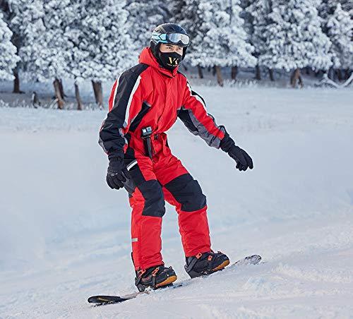 SHUHANX Outdoor Bekleidung 30 Grad Winter Snowboard Schnee Jacke Und Hose Wasserdichter Skianzug Für Männer Einteiler Professioneller Skifahren Overall-Red_L