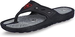 Unistar Unisex Acupressure Slippers - GH-01, Black, (Size 6)