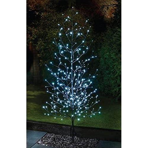 Solar Powered Large 6ft Twig Tree Ultra Bright LED 304 White Lights - 6ft Twig Tree: Amazon.co.uk