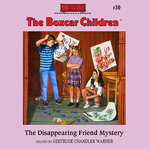 The Disappearing Friend Mystery audiobook cover art