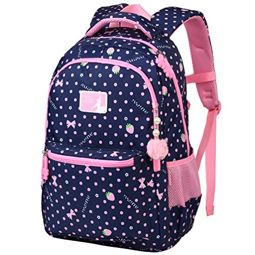 VBG VBIGER School Backpack Girl Backpacks for School Backpack for Kids Cute School Backpack Elementary Dot Bookbag(Large)