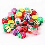 50 unids/lote cuentas de frutas de arcilla polimérica arcilla espaciadora perlas estilo mixto DIY joyería g-default