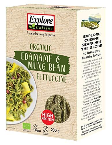 EXPLORE CUISINE 443911 Explore Asian Fettuccine mit Edamame- und Mungbohnen - Bio - 200g,