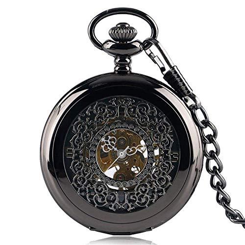 DGHJK Taschenuhr Antike mechanische Taschenuhr Handaufzug Taschenuhr-Set Hängende Kette Halskette Kette