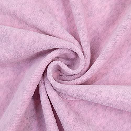 Tela infantil Nickistoff jaspeada rosa – Precio por 0,5 metros