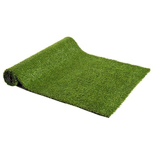 Outsunny Césped Artificial con Altura de Hierba 25mm Tipo Alfombra o Estera de Hierba Sintética de Exterior para Jardín y Terraza 300x100x2,5cm (Modelo 2: 1 Pieza)