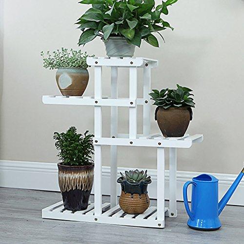 Racks de fleurs en bois solide Creative Platform Décoration de bureau Flower Stand Décoration Racks Plant étagères en bois massif fleur Racks (Couleur : B)