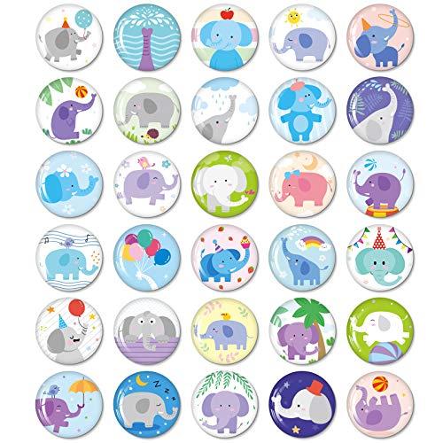 MORCART Imanes de elefante para nevera, divertido regalo para cocina, armarios escolares, aulas, oficinas, cabinas, imanes decorativos, regalos para adultos y niños