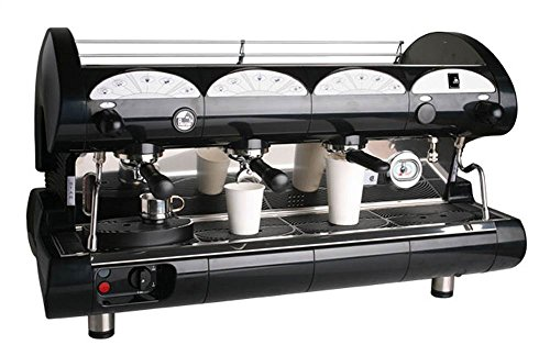 Read About La Pavoni Bar-Star 3V-B Espresso Coffee Machine, Golden Black, 21.5 liter boiler water ca...