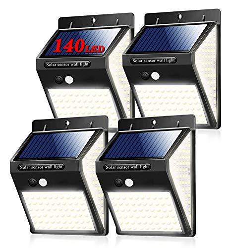 [Nueva versión de 140 LED] Luz Solar de Exterior, Salandens 2 Mejoradas Paquetes Luces Solares 144 LED, IP65 Impermeable Solar Luz LED...