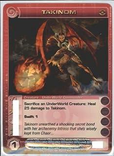 TC Digital Games TAKINOM Chaotic Premium Edition Season 1 Super Rare Gold Foil Card & Unused Code (Random Stats)