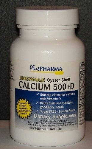 Chewable Calcium 500 plus D (Compare to Os-Cal 500 Chewable) 60ct -  PlusPahrma