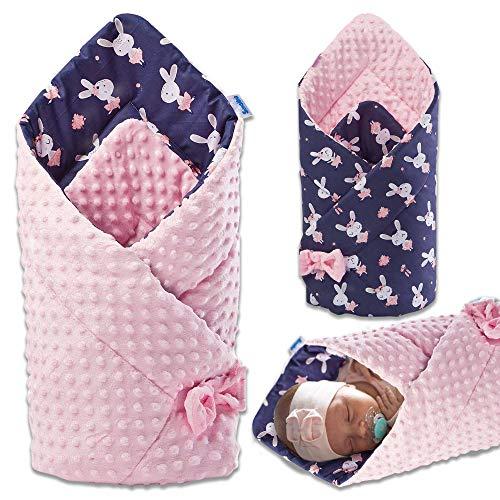 Saco de dormir, saco de dormir para bebé, manta para bebé, manta para bebé, manta para cuna, regalos útiles, cosido a mano y fabricado en Europa (rosa, algodón)