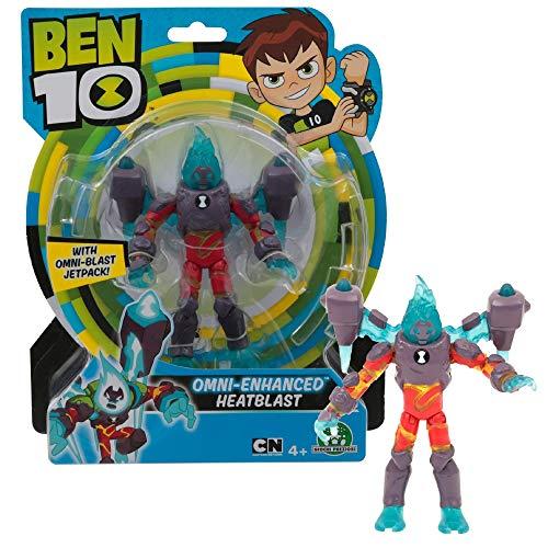 Giochi Preziosi- Ben 10 Omni Enhanced Heatblast Personaggio Base, Multicolore, 13 cm, BEN35G20