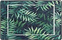 手のひらは夏に緑を残しますスーパーソフト屋内モダンエリアラグふわふわラグダイニングルームホームベッドルームカーペットフロアマットベビーキッズ犬猫60x39インチ-60x39インチ