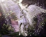 Sunnay Juego de pintura de diamante con diseño de unicornio, arco iris, juego de pintura...
