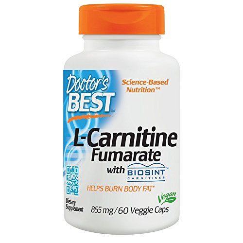 Doctor's Best L-Carnitine Fumarate with Biosint Carnitines, 855mg, 60 Capsules