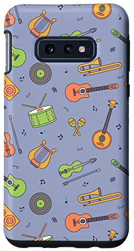 Galaxy S10e Vintage Music Instruments Guitar Lyre Viola Mandolin Pattern Case