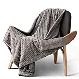Bedsure Faux Fur Reversible Fleece Throw Blanket – Super Soft Fuzzy Lightweight Throw for Couch Chair Sofa and Bed(50 x 60 inches, Grey)