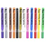 Bolígrafos de pintura de 12 colores, marcadores de pintura de bolígrafos de pintura acrílica, juego de marcadores de arte de pintura de secado rápido de línea de 0,7 mm