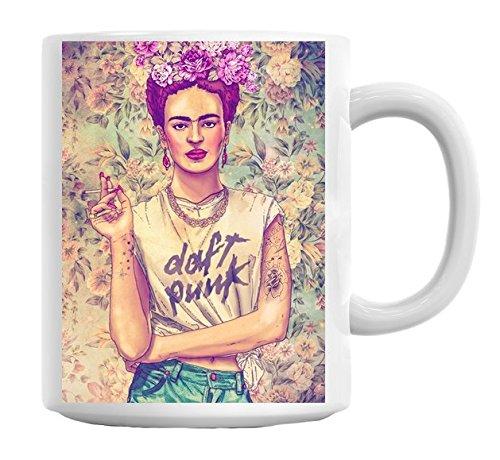 Frida Kahlo Daft Punk taza