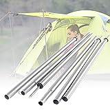 Lanmei - 2 barras de tienda de campaña universales telescópicas para tienda de campaña, soporte para tienda de campaña, toldo de repuesto, soporte para camping, toldos, playa