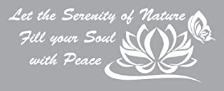 This Serenity of Nature Inspirational Wall Decal is a Black 36
