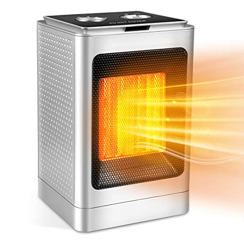 Space Heater, Portable Space Heater with Adjustable Thermostat-1500w with Overheat Protection & Tip-Over Protection Personal Mini Heater Overheat Protection and Safety Cut-Off For the Home and Office