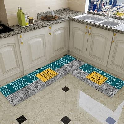 HLXX Alfombra de cocina más barata antideslizante alfombra de sala de estar balcón baño impreso alfombra alfombra pasillo geométrica alfombra de baño A21 60 x 180 cm