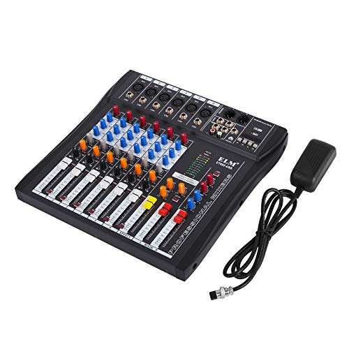 Guellin Mezclador de Audio Consola de Mezcla 48V Mezclador de Sonido...