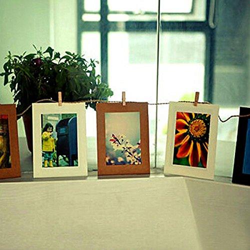 Bazaar Clip 10pcs 6 album pendaison pouces cadre kraft papier photo bricolage décoration d'art