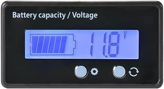 LCD Battery Capacity Monitor Gauge Meter,Waterproof 12V/24V/36V/48V Lead Acid Battery Status Indicator,Lithium Battery Capacity Tester Voltage Meter Monitor Blue Backlight for Vehicle Battery