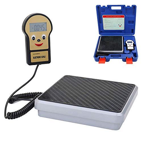 WYZXR Básculas electrónicas Digitales de Carga de refrigerante, báscula de recuperación de Control Inteligente de Alta precisión de 220 LB para HVAC, recuperación automática de refrigerante de CA