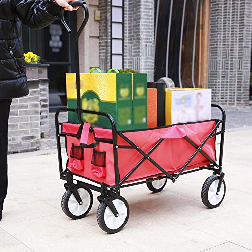 in budget affordable [5 Days DELIVERY]  Multifunctional Folding Cart-Durable Shopping Trolley / ATV Trailer Oxford Fabric…