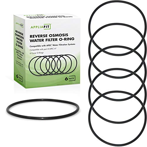 AppliaFit 6-Pack Water Filter O-Ring Compatible with Whirlpool WHKF-DWHV, WHKF-DWH & WHKF-DUF Filters