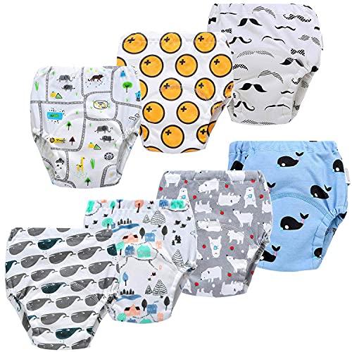 JackLoveBriefs bébé sous-vêtements Pantalon d'entraînement pour Enfants Culotte Apprentissage Enfant 1-5 Ans(Lot de 7) Taille:90