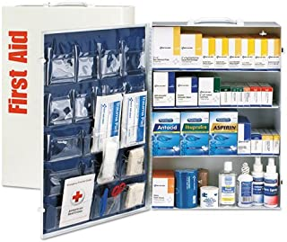 First Aid Only 90576 ANSI Class B+ 4 Shelf First Aid Station with Medications, 1437 Pieces