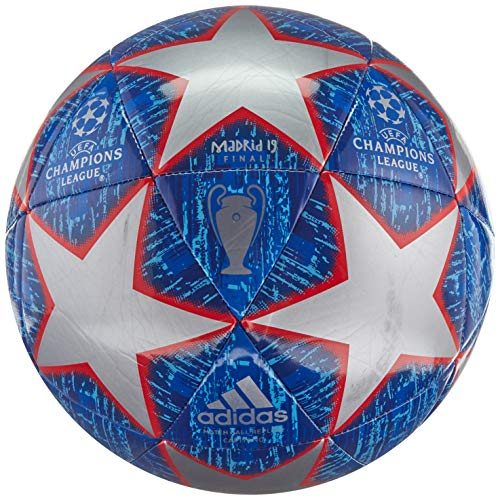 adidas Finale Glider Soccer Ball Silver Metallic/Bold Blue/Football Blue/Light Blue Bottom: Active Red S19, 3